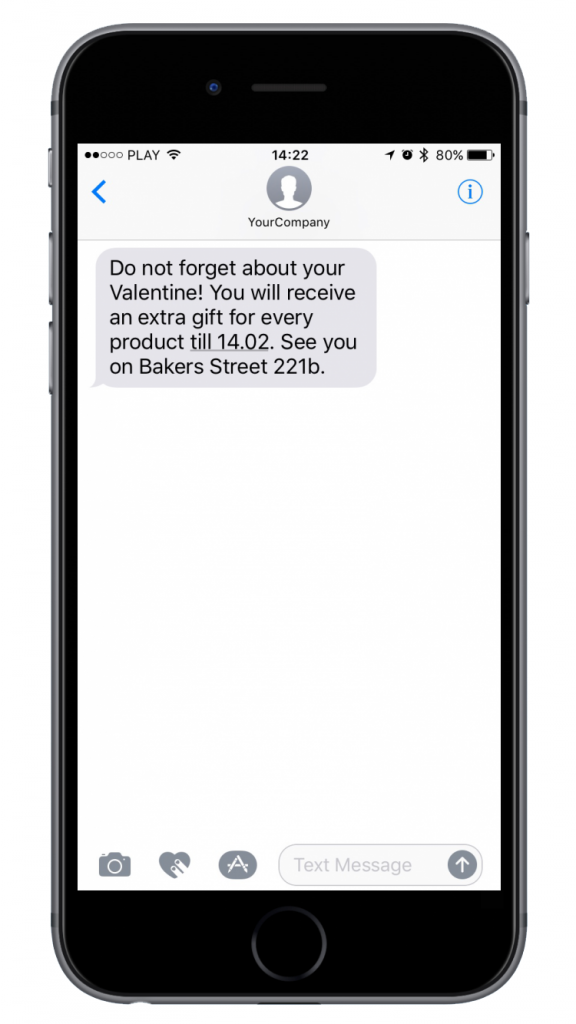 SMSAPI SMS Valentines Marketing Sale