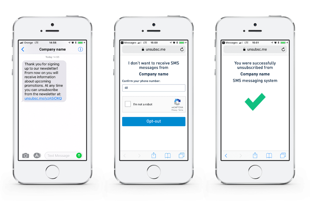 Opt-out SMS