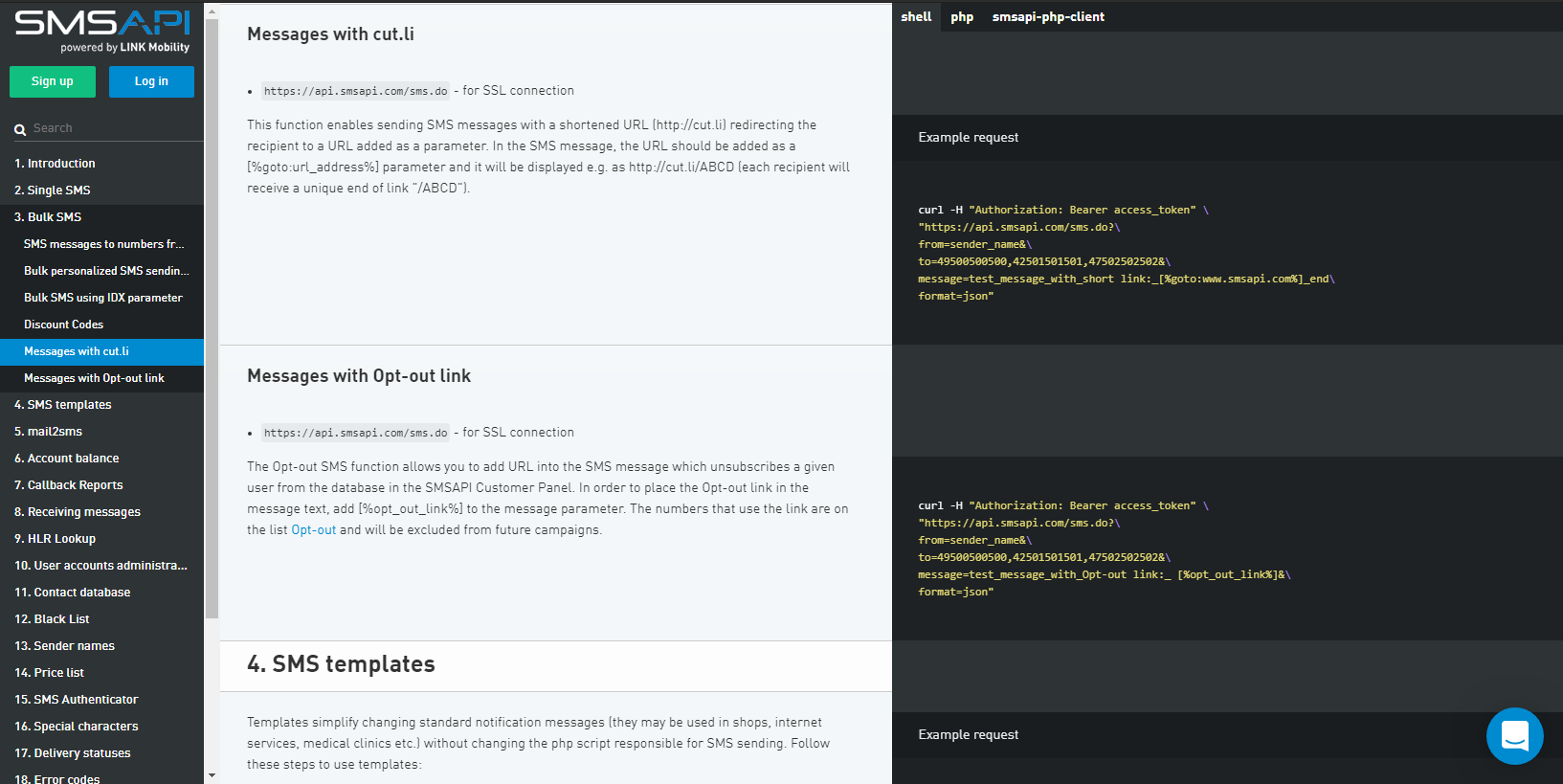 API Docs - SMSAPI