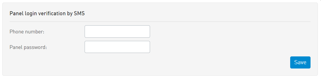 SMSAPI Customer Portal Security SMS Two-Factor Authentication