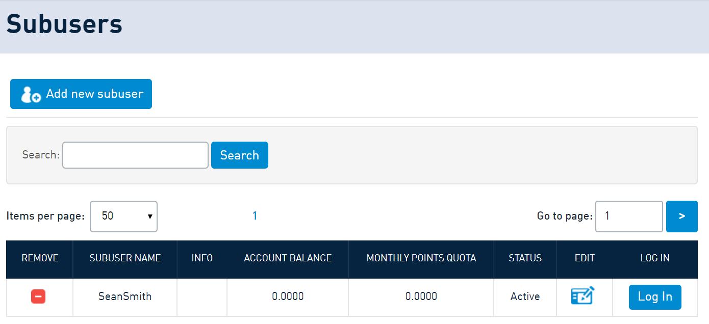 SMSAPI Subusers Customer Portal Security