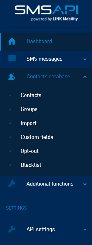 Manage your contact database in the SMSAPI Customer Portal