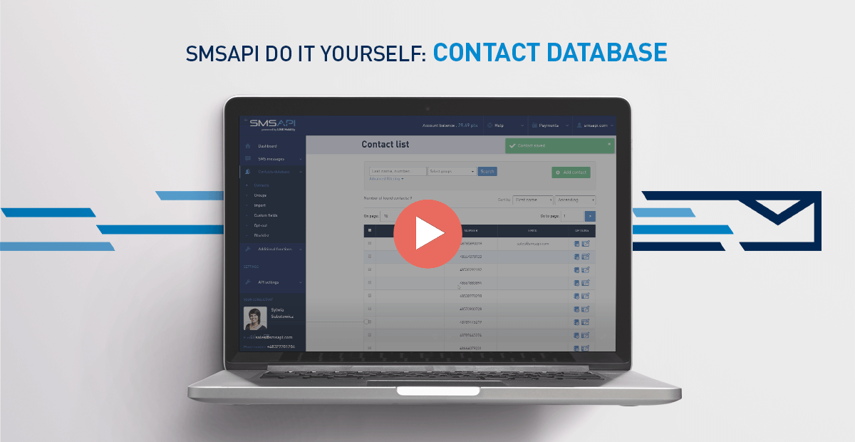 SMSAPI Do It Yourself Contact Database