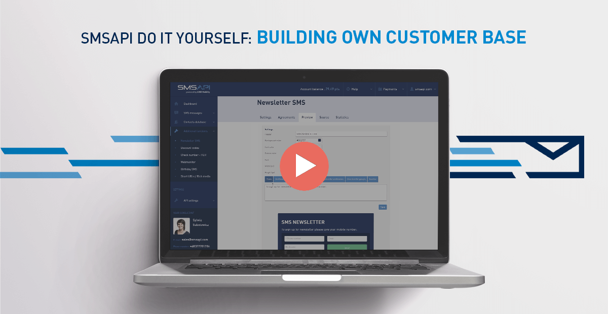 Do it yourself #05 – Building Your Own Customer Base with Newsletter SMS [VIDEO GUIDE]