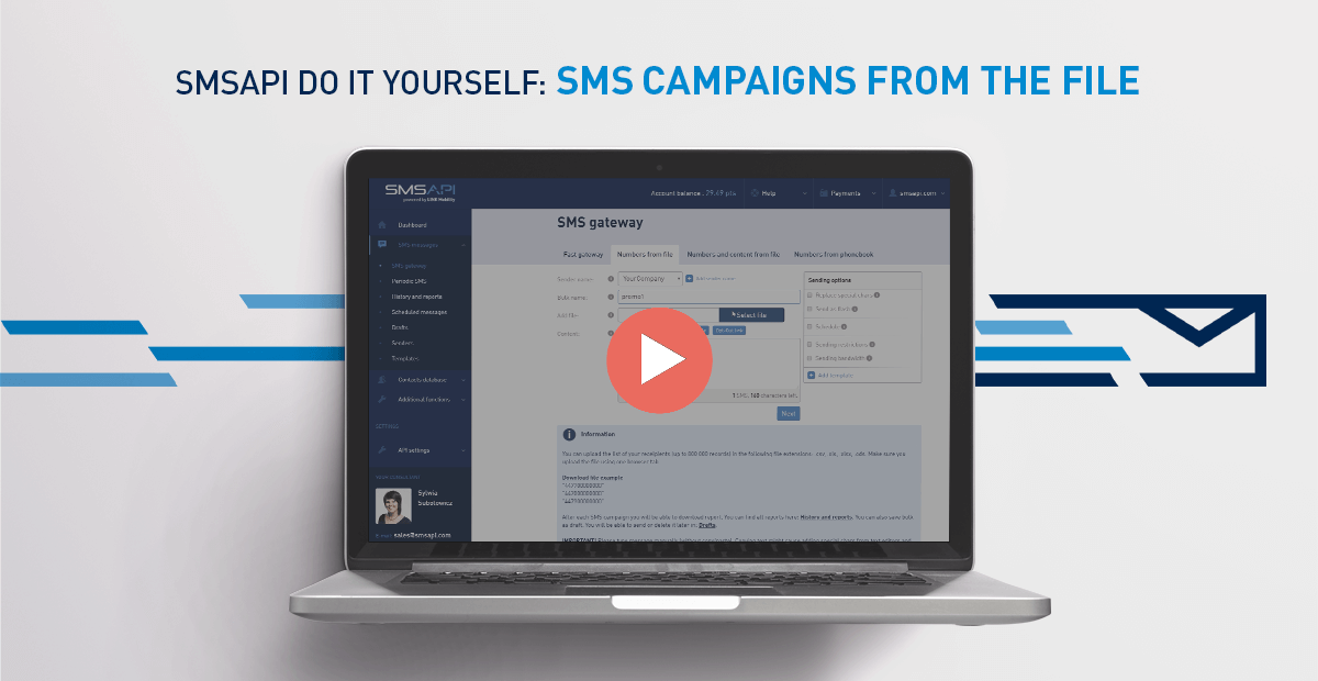 SMSAPI Do It Yourself SMS Campaign from file