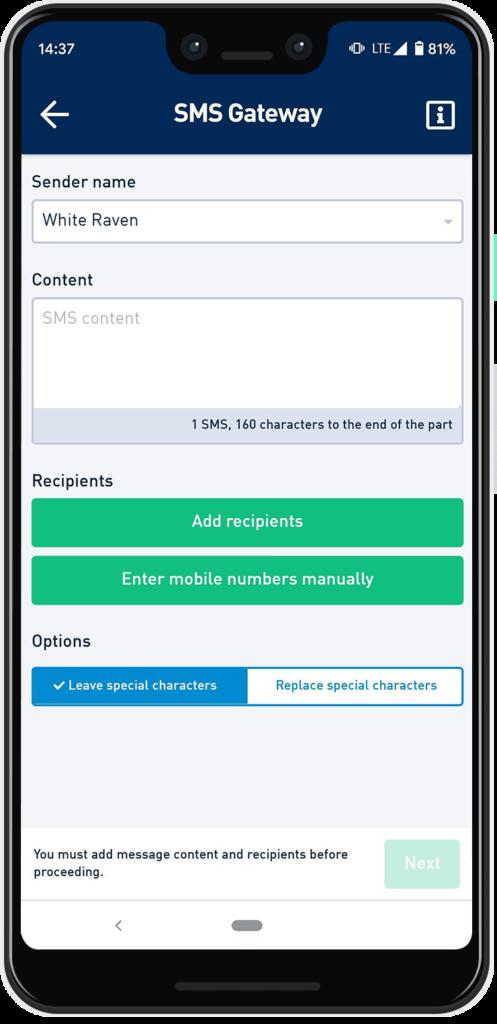 SMS Gateway of the SMSAPI bulk SMS app