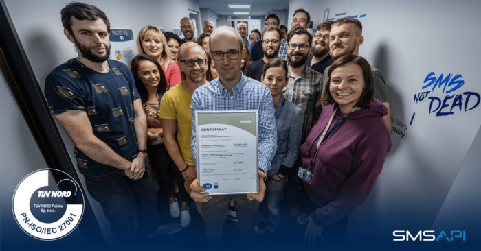SMSAPI with ISO 27001 Certificate